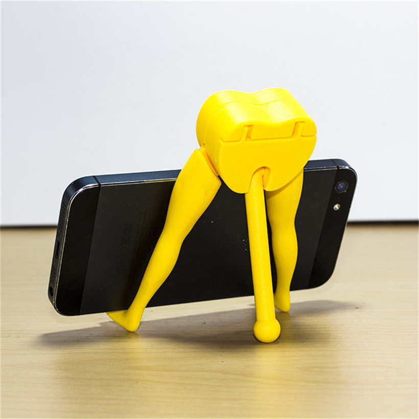 Novelty Three Legs Smart Phone Holders For iPhone For Samsung For Universal Mobile Phones Stand Desk 80430 drop shipping mobile phone
