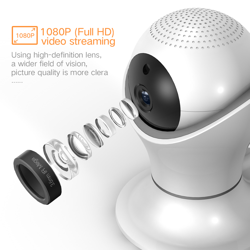 SDETER 1080P Home Security CCTV Camera WIFI Wireless Surveillance IP Camera IR-Cut Night Vision Motion Detection Indoor Camera