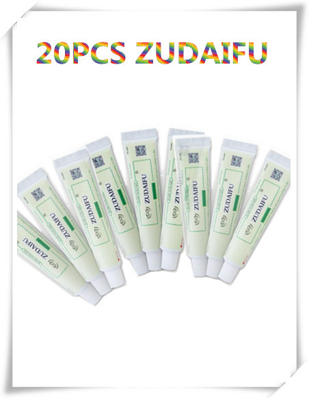 20PCS ZUDAIFU Natural Skin Creams Eczema Ointments Psoriasis Eczema Allergic Neurodermatitis Ointmen Without Retail Box