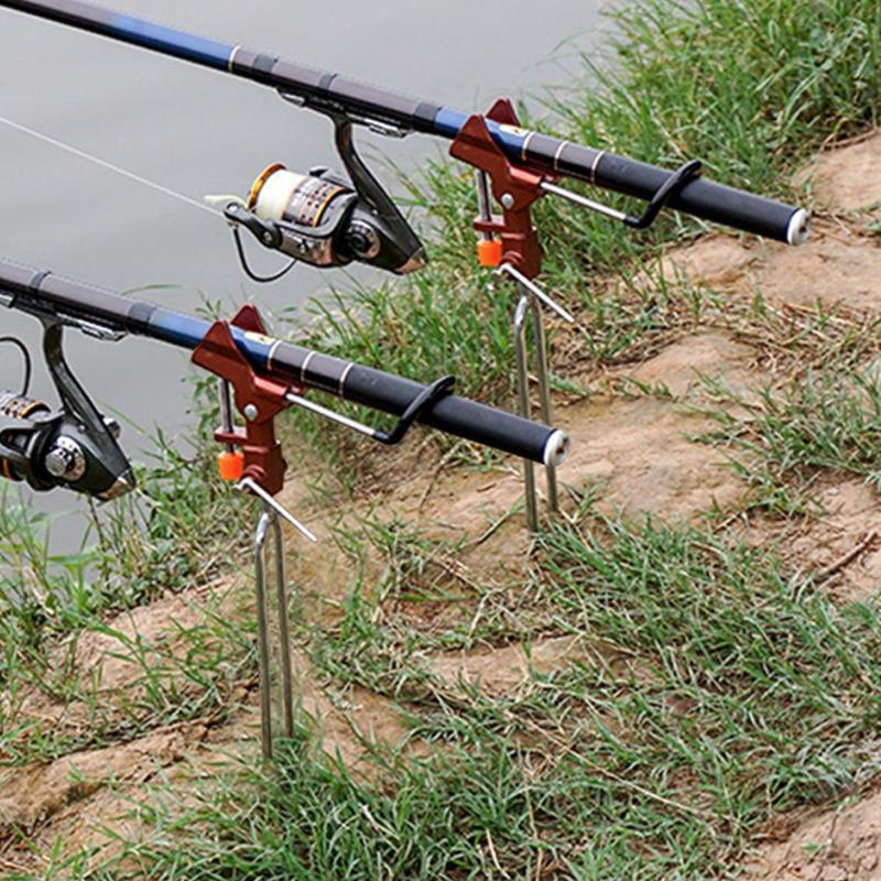 Foldable Adjustable Double Pole Bracket Fishing Rod Stand Holder Sea Fishing Tackle Pole Fishing Tools