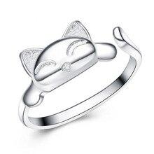 Cute Fox 925 Sterling Silver Ring