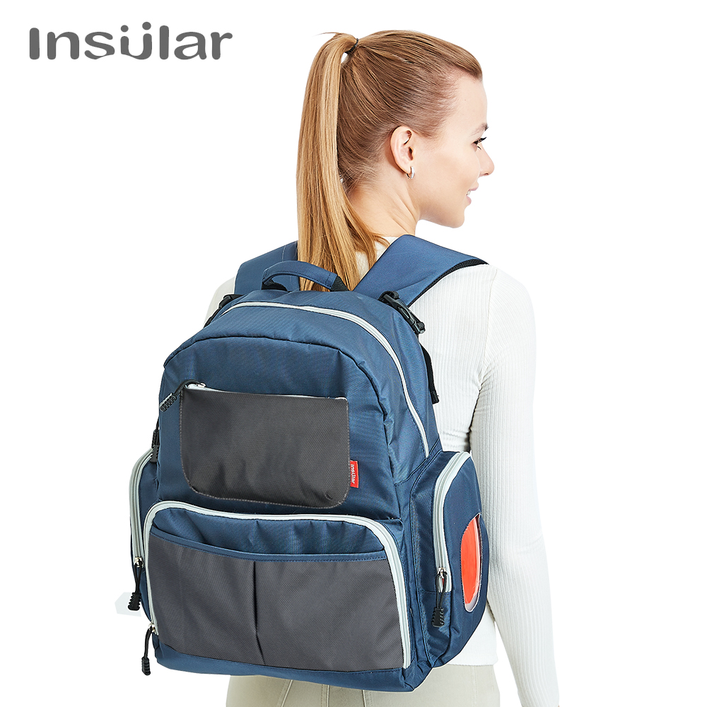 Waterproof and multi-functional double shoulder mammy bag big capacity mother and baby out of the backpack Nursing Bag for Baby functional capacity of mango leave extracts