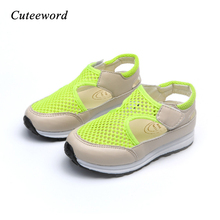 Children Casual Shoes Breathable Mesh Sports 2019 Spring Summer New Kids Sandals Soft Net Boys and Girls Sneakers