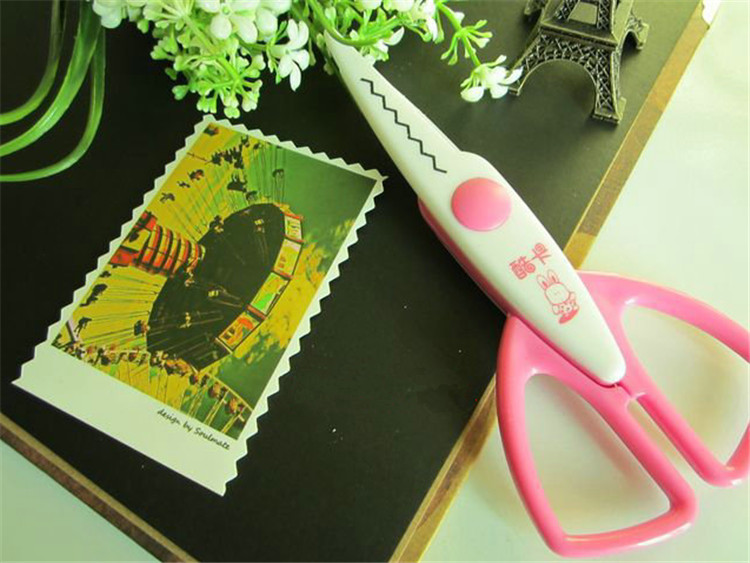 30 PCS Paper Edger Pinking Shears Zig Zag Scissors Scrapbooking Decorative Craft Pattern Edged Scissors Sraft Scissors