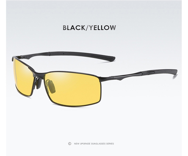 Aoron Polarized Sunglasses Yellow and Black