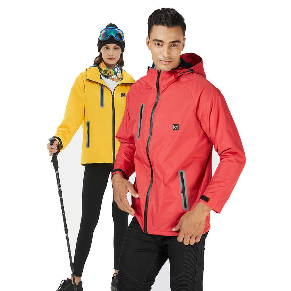 e12aa8e72cdfd 2019 Electric Heated Jacket Winter Warm Outdoor Skiing Camping Windproof  Waterproof Thermal Jacket for Women Men