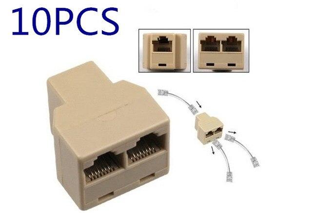 EKL 10pcs RJ45 CAT5 6 LAN Ethernet Network Cable Extender Splitter ...