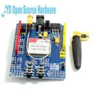 SIM900 GPRS/GSM Shield Placa de desarrollo Módulo de banda cuádruple para arduino Compatible con UNO MEGA 2560