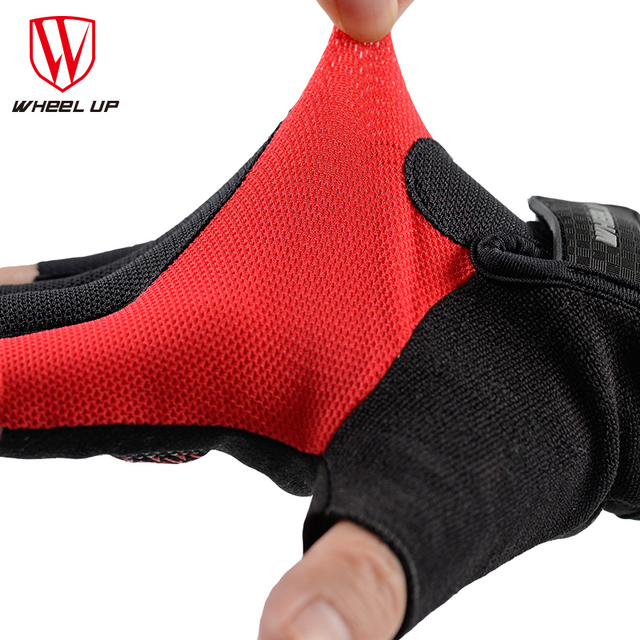 WHEEL UP Cycling Gloves Half Finger Mens Women's Summer Bicycle Gloves Guantes Ciclismo MTB Mountain Sports Bike Gloves Mittens