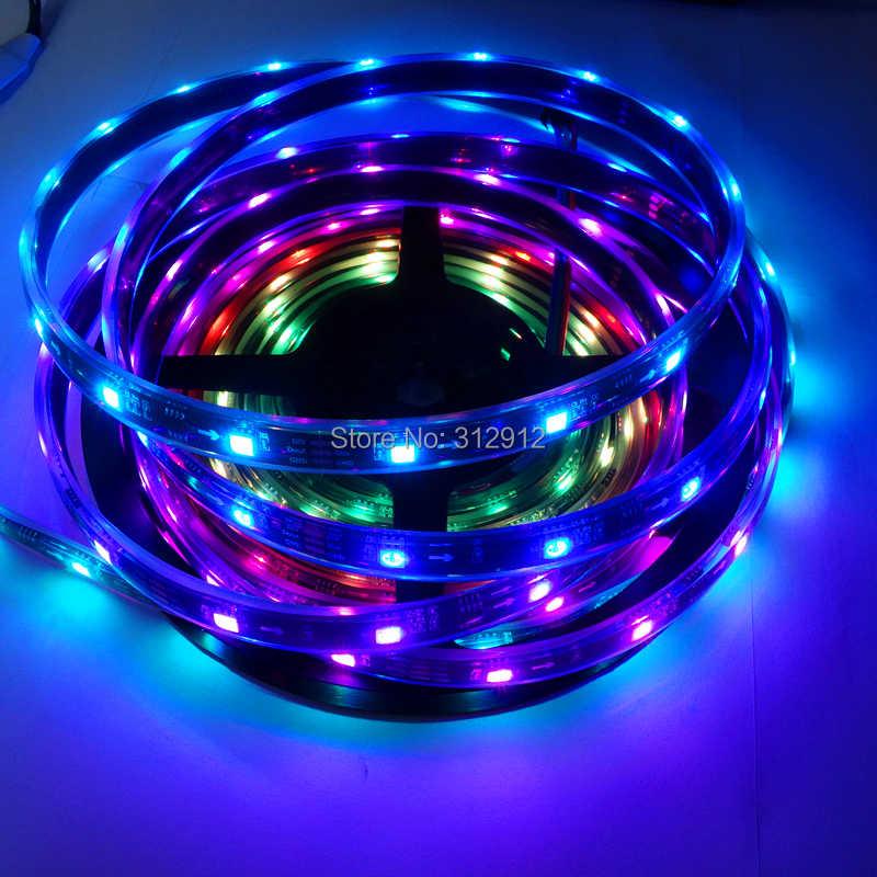 IP68 full color С Заполнение эпоксидной смолой 5 м DC12V WS2811 150 светодиодный s (10 PIX/м) Черный PCB светодиодная цифровая полоса