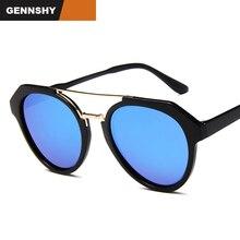 2018 New Korean Sunglasses Men Women Fashion Brand Design Pilot Sunglases Retro Big Black Frame Silver Mirror Eyewear UV400