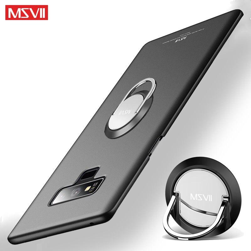 MSVII Case For Samsung Galaxy Note 9 8 Case Ring Slim Scrub Coque For Samsung Note