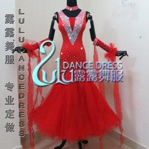 Image 1 - ホワイト社交ダンスドレスやドレス、社交ダンスドレス