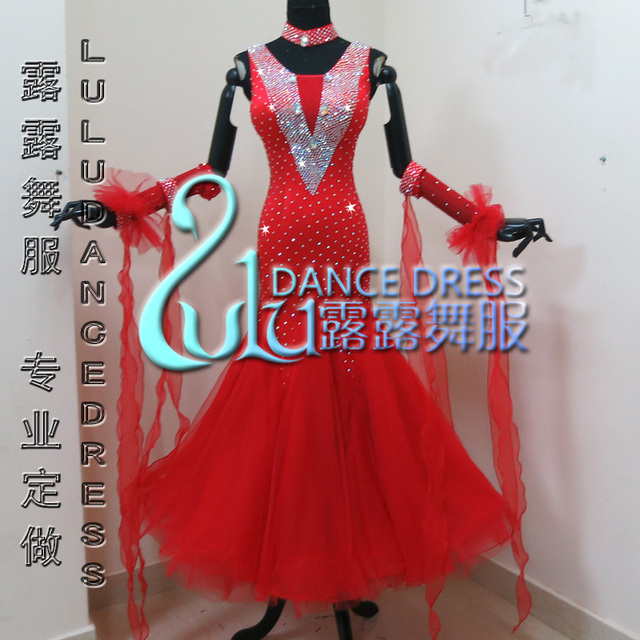 ホワイト社交ダンスドレスやドレス、社交ダンスドレス