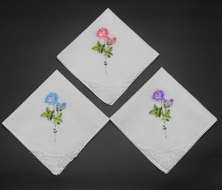 Flowers Theme Handkerchief Flower Handkerchief Family Handkerchief Custom Handkerchief A Gift For Parents