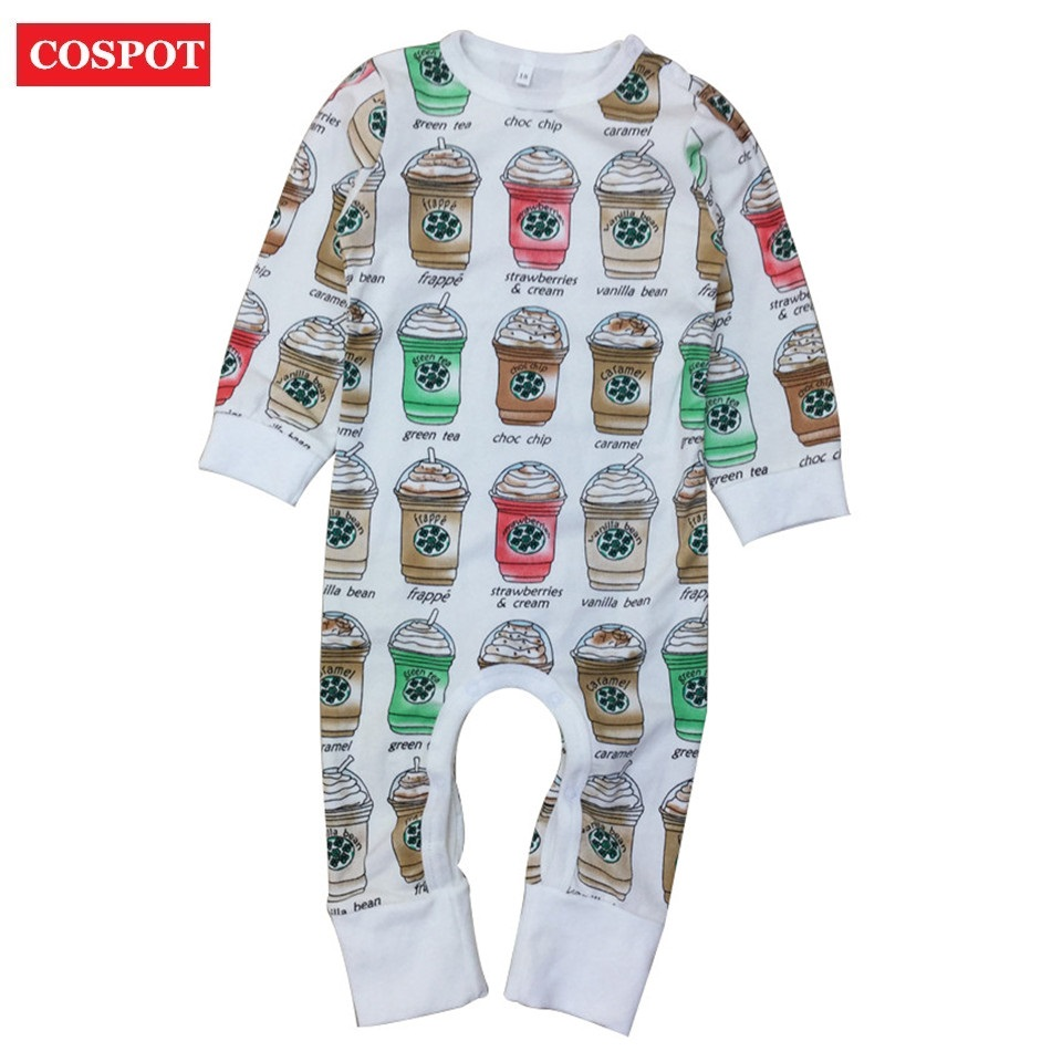 COSPOT 2018 New Baby Girls Boys Romper Spring Long Sleeved Newborns Infant Bebes Jumpsuits Body Suits Jumper Pajamas Clothes D35 cospot baby boys plain gray romper