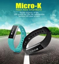 Горячие микро-K сердечного ритма SmartBand OLED Bluetooth Браслет фитнес-браслет Водонепроницаемый трекер активности спортивные для IOS Android