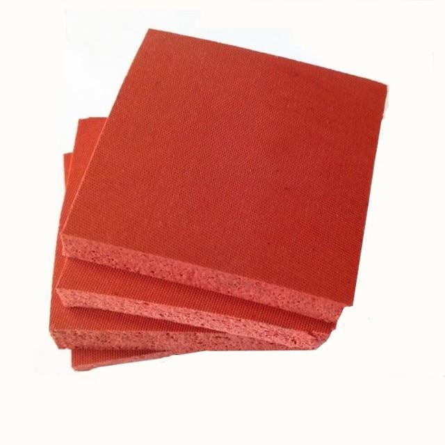 Custom Made Silicone Foam Slab Plate Sheet Board for Heat Press Machine Heat Insulation Blanket 400x500x10mm 400x600x8mm Red