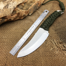 Best Quality 7CR17Mov Blade Tactical Fixed Knife Rope Survival Knife Utility Outdoor Camping Straight Knives Hunting Tools Hot