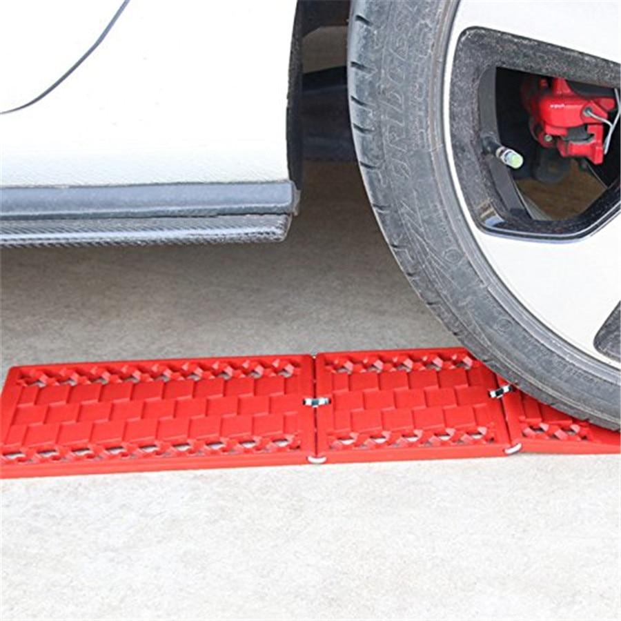 1 paire roue de voiture plaque antidérapante Traction instantanée crémaillère pliante antidérapant routes antidérapant tapis hiver - 4