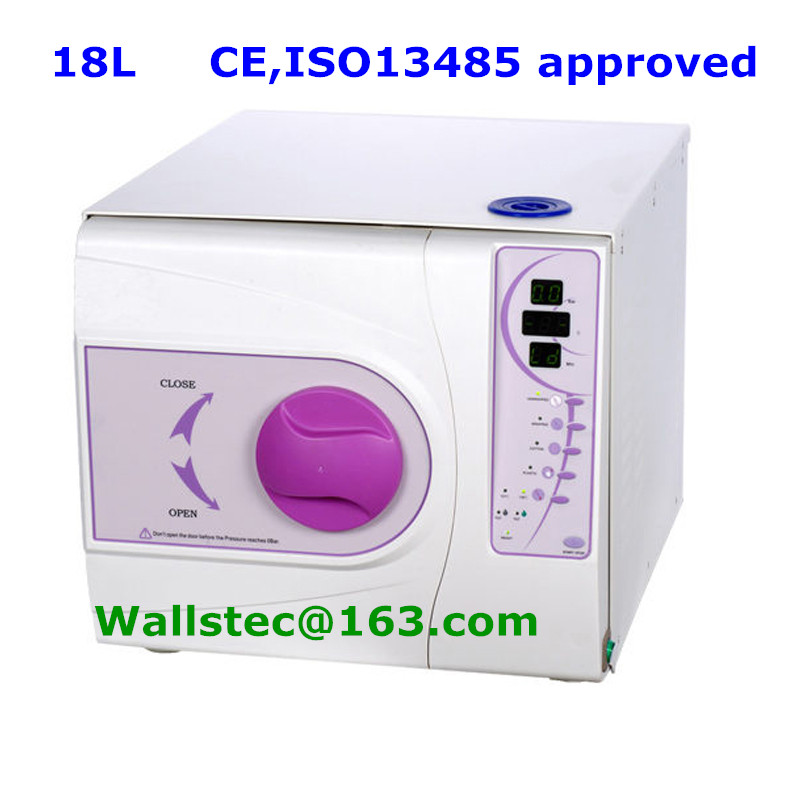 18L Europe class B dental autoclave with CE and ISO 13485 free shipping