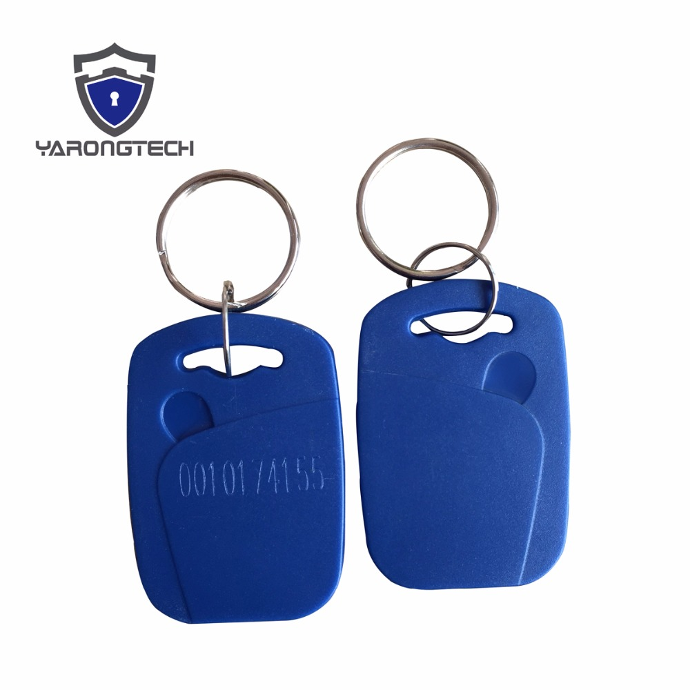 RFID EM4100 Fob 125KHZ ABS Waterproof Keychain For Door Access Control -100pcs