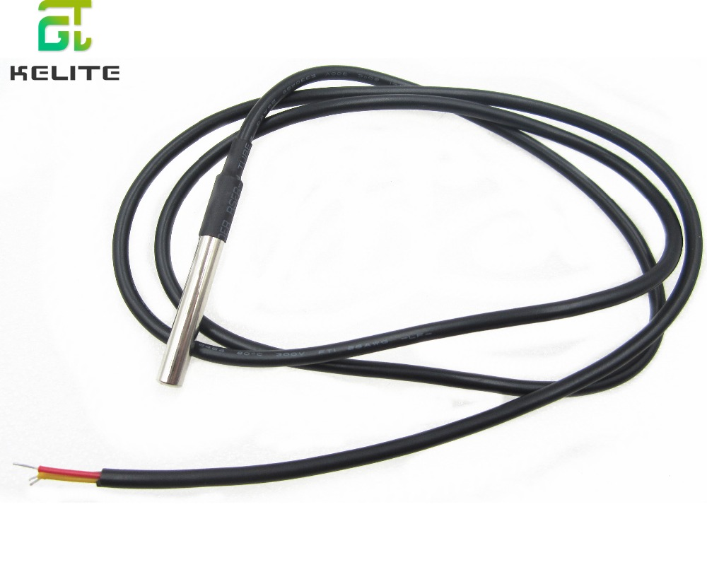 HAILANGNIAO 1pcs DS18B20 Stainless steel package 1 meters waterproof DS18b20 temperature probe temperature sensor 18B20 freeshipping 10pcs lot temperature temp sensor probe ds18b20 1m also can do 2m 3m etc
