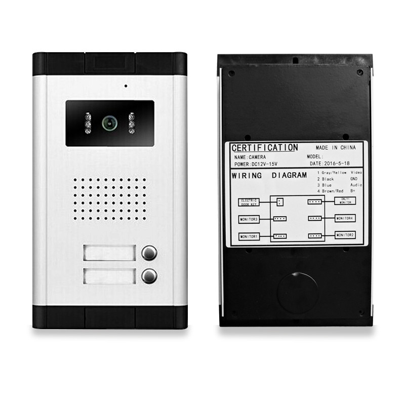 New brand 7\'\' color video door phone intercom system with outdoor ...