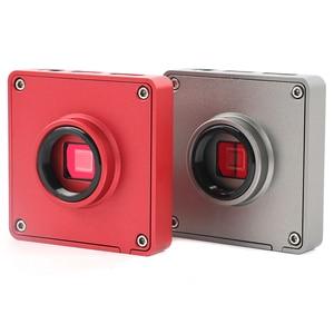 Image 4 - Brazo articulado con abrazadera de Pilar Zoom, microscopio Trinocular Industrial Focal, microscopio estéreo + cámara de vídeo HDMI de 37MP 1080P, 3.5X   90X