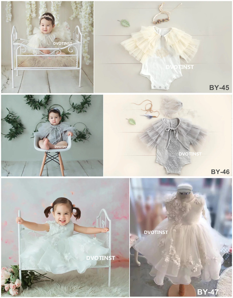 Dvotinst Baby Girls Photography Props Lace Outfits Cute Mesh Dresses Clothes Set Fotografia Accessories Studio Shooting PropsDvotinst Baby Girls Photography Props Lace Outfits Cute Mesh Dresses Clothes Set Fotografia Accessories Studio Shooting Props