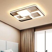 Современные светодиодные потолочные лампы светодиодный светильник для гостиной спальни Abajur Luminarias lustre de plafond Прямоугольник светодиодный потолочный светильник