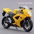 Maisto 1:12 Motocicletas SUZUKI GSX R600 Diecast Metal Moto Deportiva Modelo De Juguete en Caja