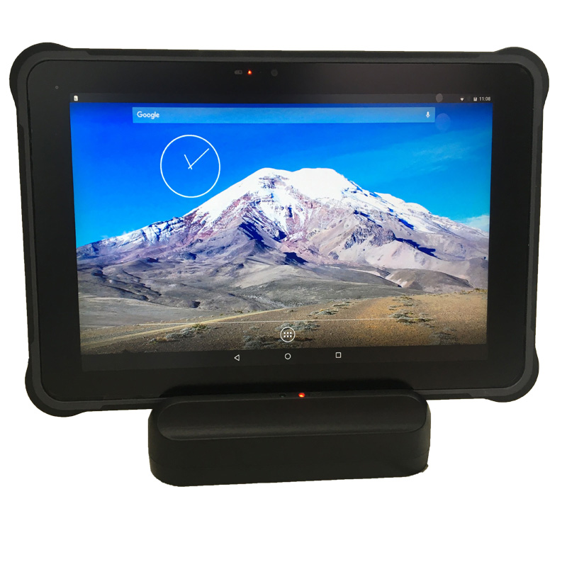 Rugged Tablet PC  Android 7.0 Sunlight Screen H1920 V1200 450 Nits LCD  Industrial 10 Inch   With Docking Station