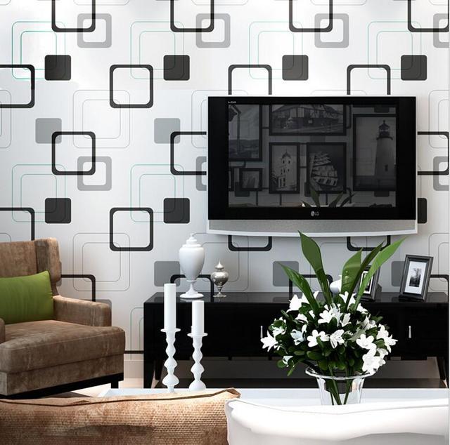 Modern Simple Geometry Texture Design Wallpaper Roll /3D