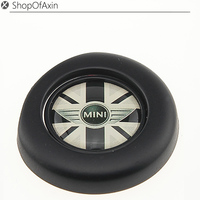 Mini Gray Uk Flag Black Finish Engine Start Stop Button Push Cap Cover For 2nd Gen