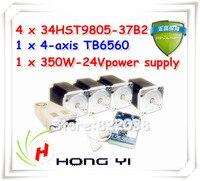 4軸ネマ34ステッパモータ880オンスインcnc完全なキットでマッハ3