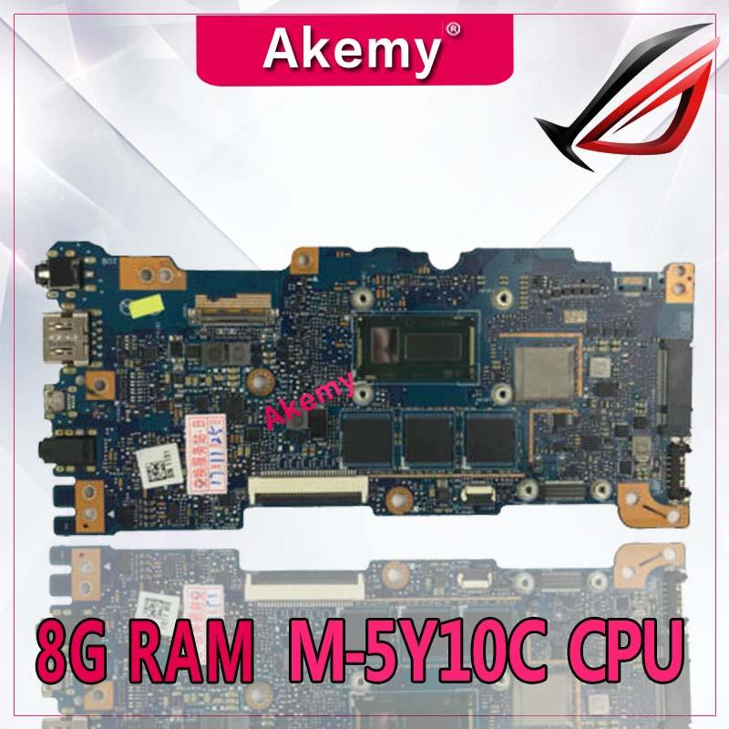Akemy UX305FA Laptop motherboard for ASUS UX305FA UX305F UX305 Test original mainboard 8G RAM M 5Y10C