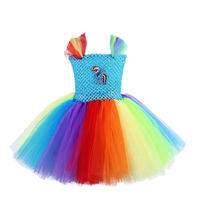 Платье принцессы с юбкой-пачкой принцессы конек платье-пачка детей Обувь для девочек Радужное платье-пачка Платье для маленькой девочки до ...