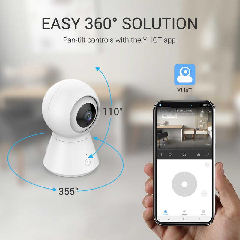 Камера видеонаблюдения YI Dome Camera 1080p | Беспроводное подключение  Wi-Fi | Реакция на детский плач | Функция слежения за объектами: поворот, наклон и зуммирование | MicroSD и облачное хранилище YI Cloud