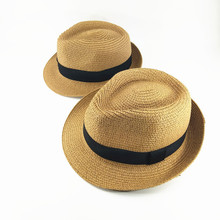 Fashion parent-child sun hat children hats hand made straw beach casual summer cap