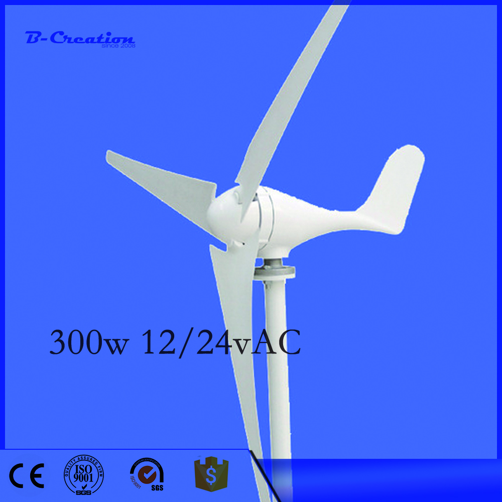 300w Generador Eolico 12/24v Mini/small Wind Generator, max 400w 3/5 Blades For Turbine Ce&rohs Approval Power Generator high tech wind turbine offer rated power 400w max 600w small wind for turbine generator 12v 24v ce with waterproof controller
