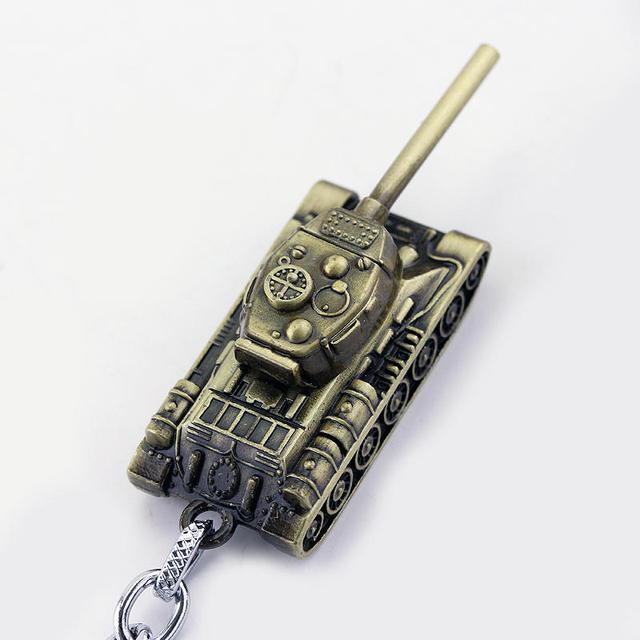 dongsheng World of Tanks WOT Hot Game 3Colors Metal Tank Key Ring Keychain Pendant Gift -50 2