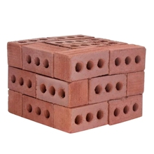 Teaching Class Wall Cement Toy New 32Pcs Mini Cement Cinder Bricks Build Your Own Tiny Wall Mini Red Bricks cinder