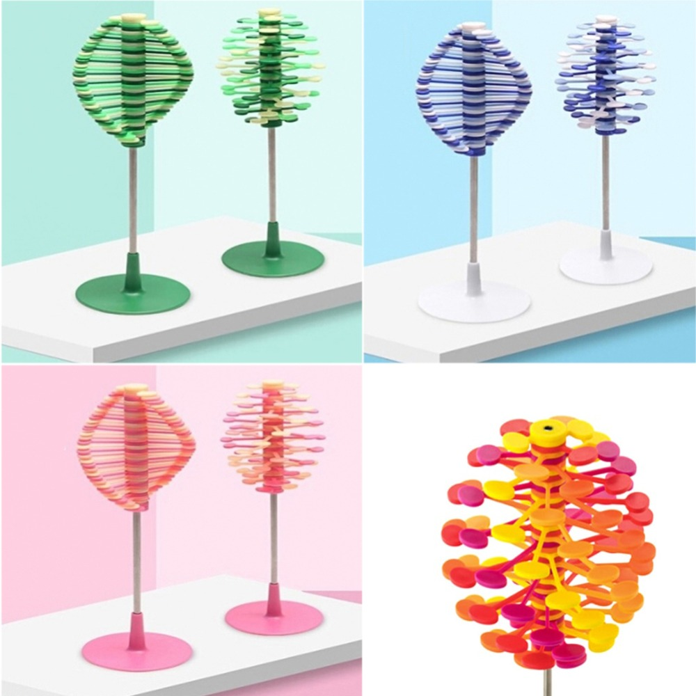 Color Random Rotating Lollipop Toy Home Office Table Decoration Ornaments  Stress Relief Creative