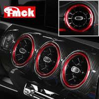 Red!!! Car Central Dashboard Rear Seat AC Air Vent Ring Trim Cover for Mercedes Benz A Class W177 V177 A180 A200 A220 A250 2019+