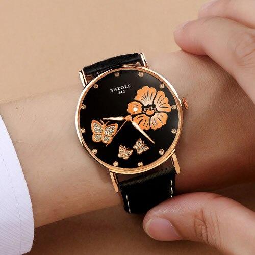 YAZOLE Marca 2018 Relógio De Pulso Das Mulheres Relógios Senhoras relógio de Pulso Feminino Estilo de Moda Para A Mulher Relógio Montre Femme Relogio feminino