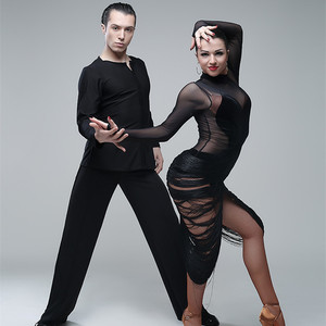 Image 5 - Sexy latin kleider für tanzen frauen latin dance kleid quaste dance kostüme für pole dance kleidung body party kleid jazz