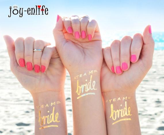 1pcs Bride Tribe Temporary Tattoo Bachelorette Party Accessories Bridesmaid Bridal Shower Wedding Decoration Favor