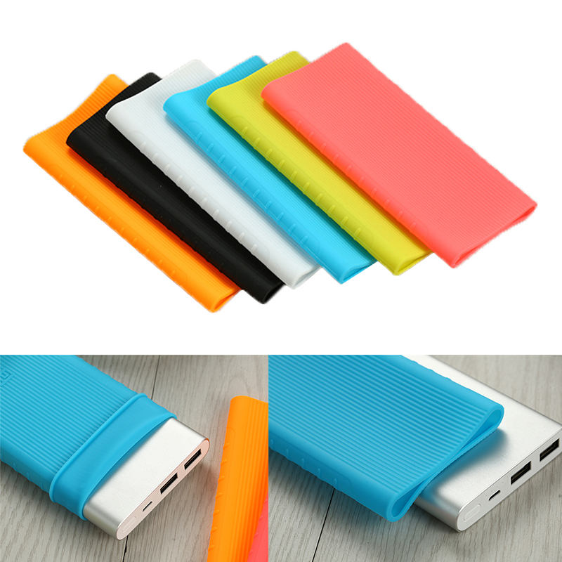 Silicone <font><b>Case</b></font> for new Xiaomi Power Bank 2 10000mAh 2017 Rubber Cover Pouch Skin friend External <font><b>Battery</b></font> Protector <font><b>Case</b></font> Anti-slip image