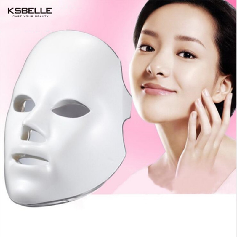 Facial mask LED Therapy 7 Colors Light Treatment Facial Beauty Skin Care Rejuvenation Light Therapy Acne Treatment Mask skineat purple light high frequency electrotherapy comb rods acne removing facial spots treatment skin care liquid to hair salon